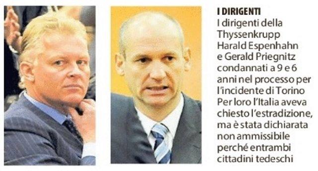 6 dicembre 2007 - 10 anni dalla tragedia, ma le vittime della Thyssen non avranno giustizia. La Merkel protegge i suoi assassini!