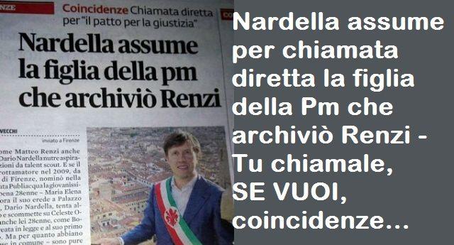Firenze. Nardella assume per chiamata diretta la figlia della Pm che archiviò Renzi - Tu chiamale, SE VUOI, coincidenze...