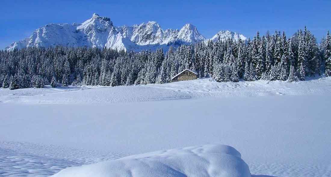 Ciaspolata al Lago Palù ghiacciato