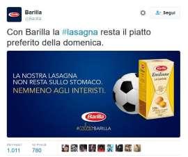 """""""La nostra lasagna non resta sullo stomaco"""". Barilla spacca il tifo con l'ironia sull'Inter"""