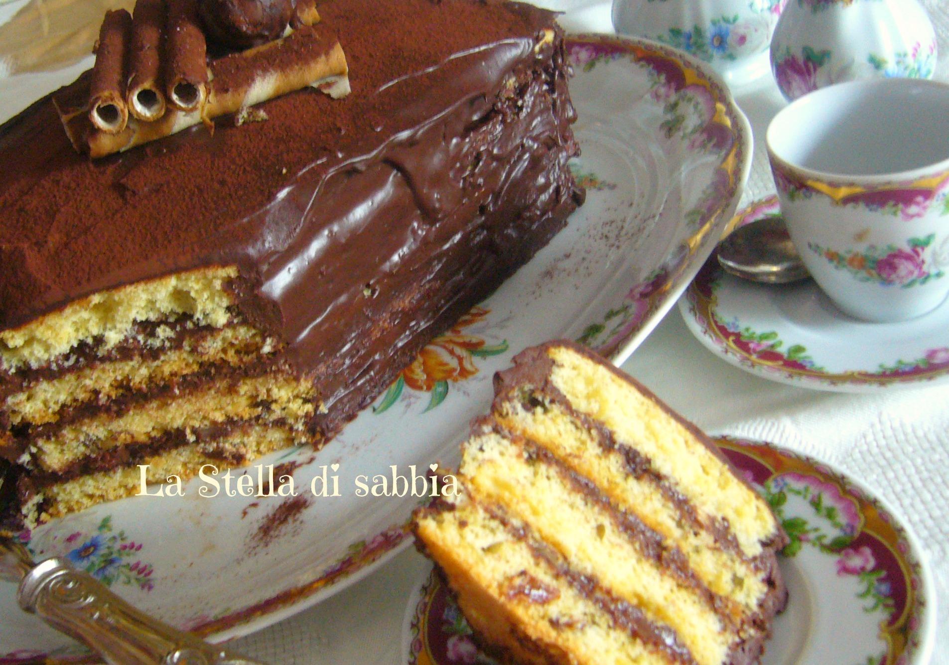 Torta cioccolato e nocciole