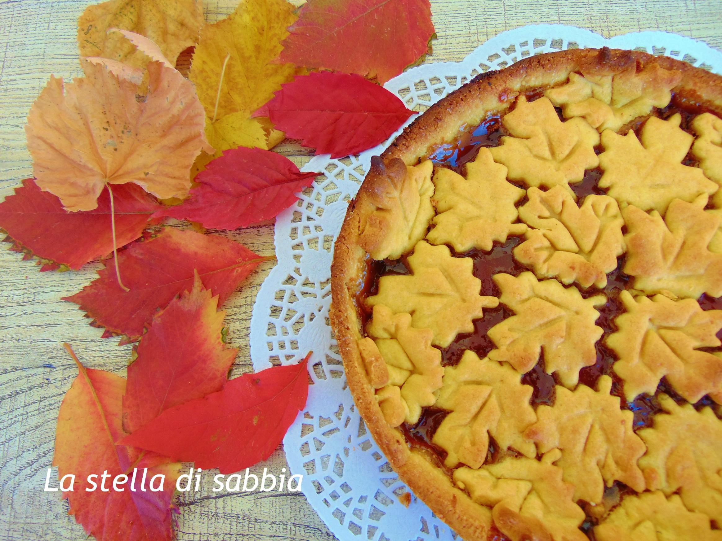 Crostata con farina di ceci e confettura di fragole