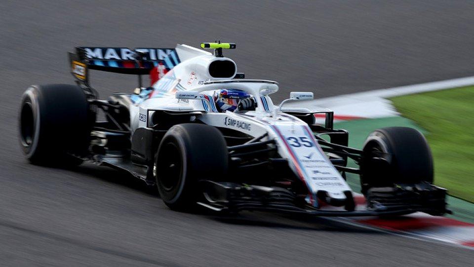 F1 un tombino sfonda la Williams di Russell