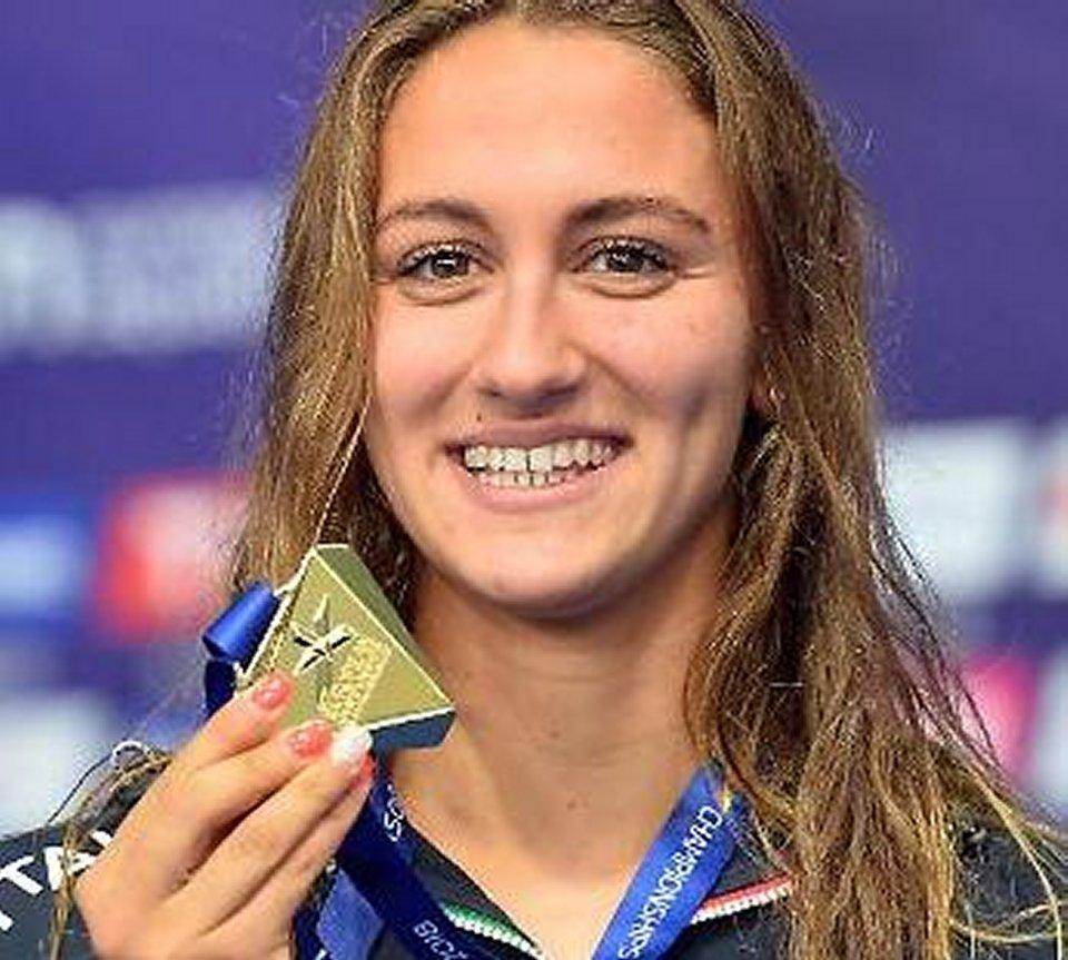 Simona Quadarella è la campionessa di nuoto nei 1500