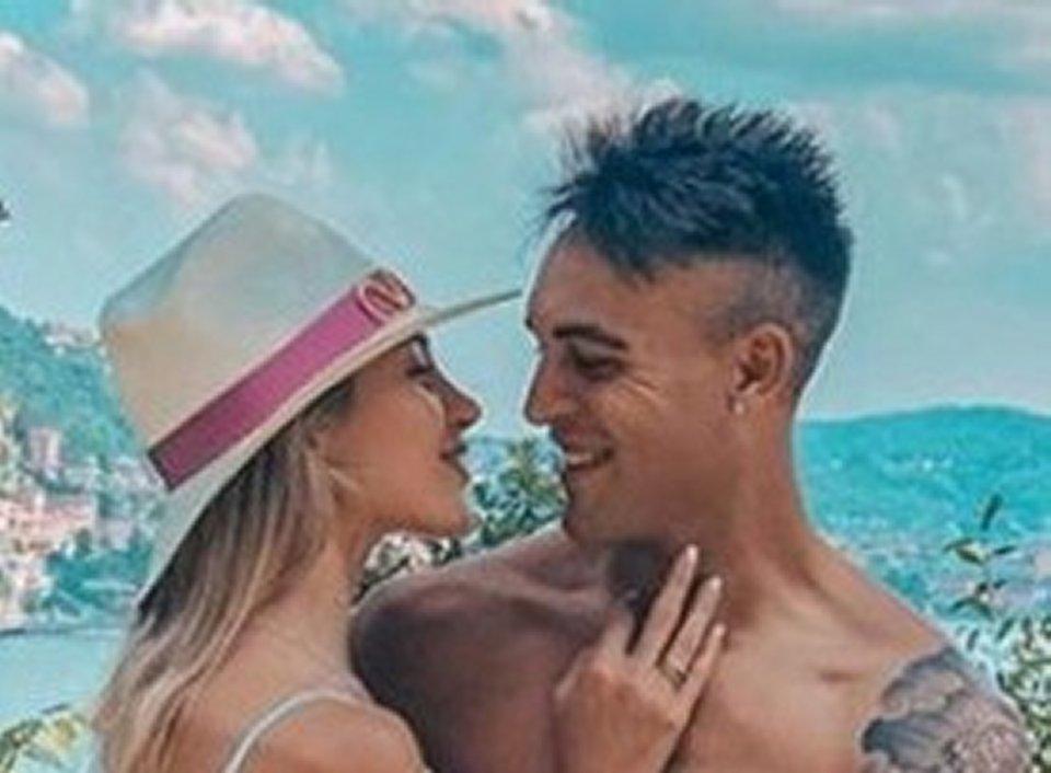 Lautaro Martinez e Agustina Gandolfo in vacanza sul lago di Como