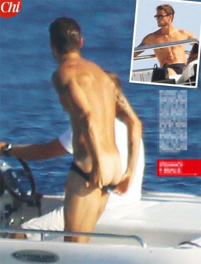 Claudio Marchisio con il sedere nudo alle Baleari