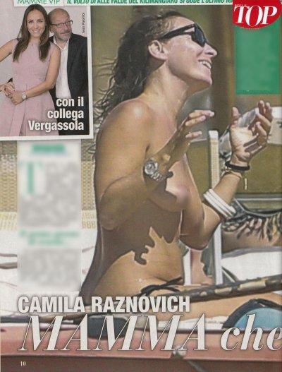 Camila Raznovich topless di fine estate