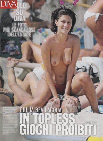 Giulia Bevilacqua topless super sexy a Formentera