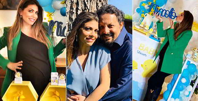Flora Canto incinta, baby-shower (e lacrime) con le amiche e Enrico Brignano…