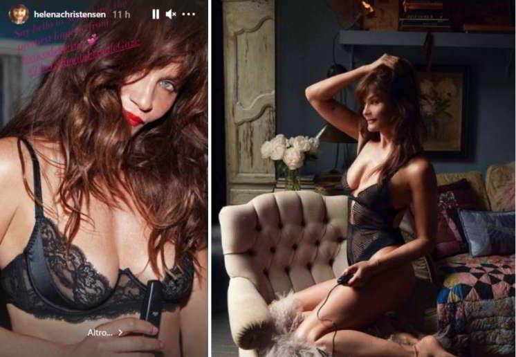 Helena Christensen esplosiva in lingerie a 53 anni