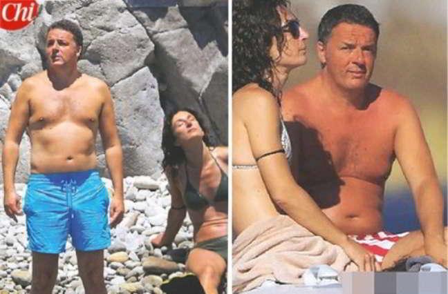 Matteo Renzi in vacanza a Ponza con la famiglia