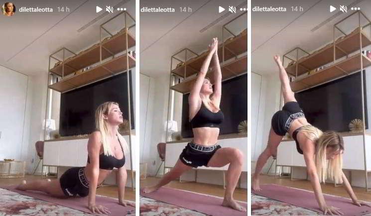 Diletta Leotta, che bomba sexy con la ginnastica da camera