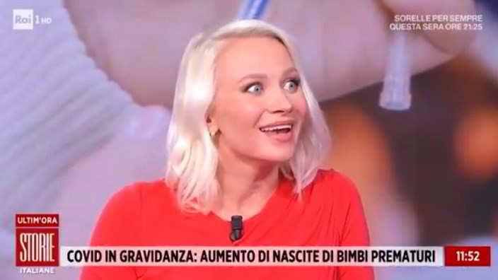 Storie Italiane, Veera Kinnunen rivela il sesso del bebè in diretta tv