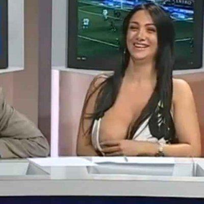 Marika fruscio oops big boobs pop out of dress live tv 10