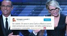 """Sanremo, Selvaggia Lucarelli senza pietà sul duo Conti-De Filippi: """"Tra un po' si tiravano comodini"""""""