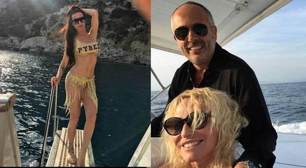Mosetti, Clerici e Garrone in barca tra Capri e le Costiere
