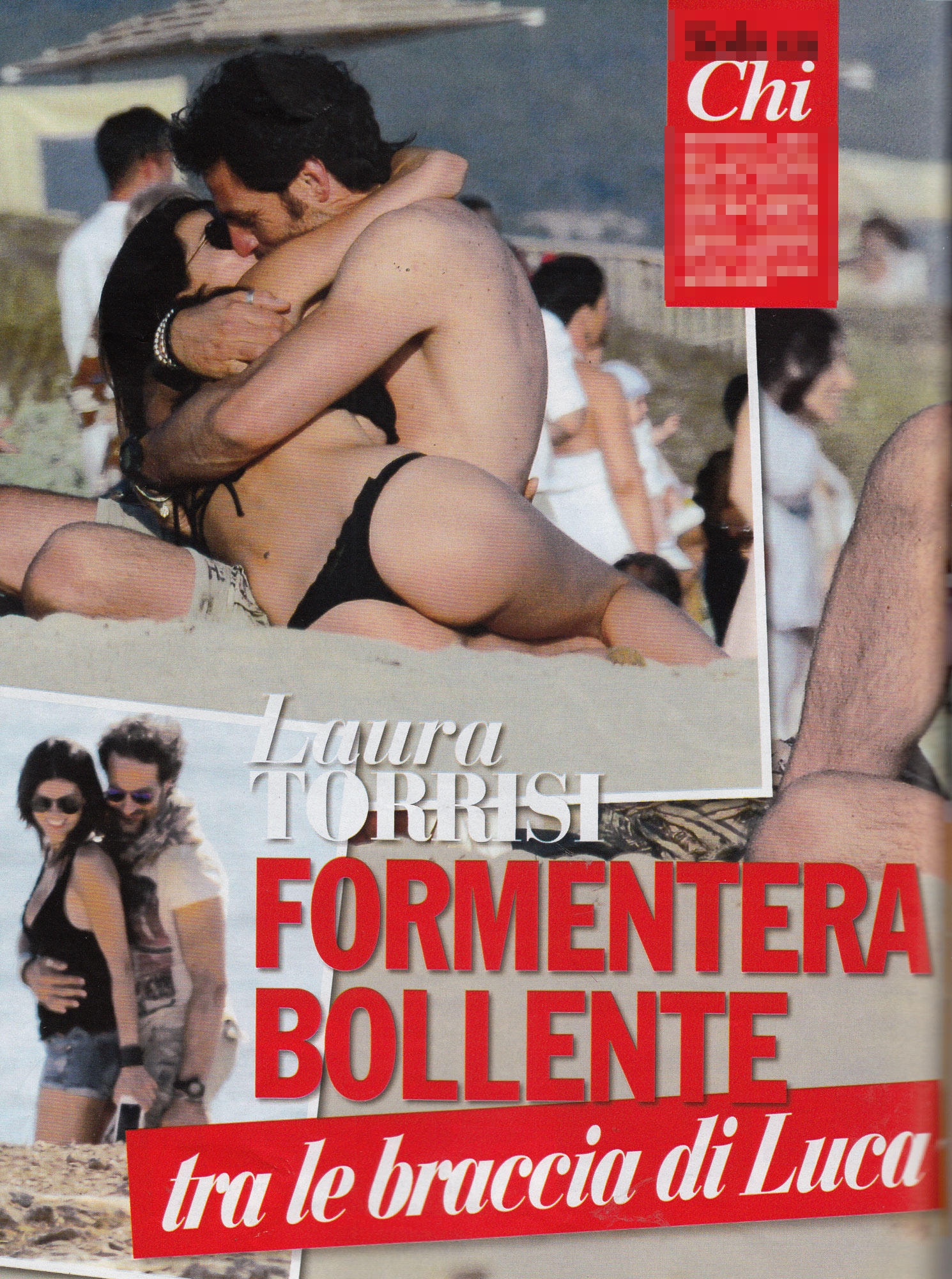 Laura Torrisi, spiaggia d'amore con Luca Betti
