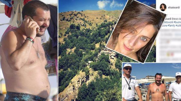 Matteo Salvini al mare ed Elisa Isoardi in montagna, ma l'amore continua