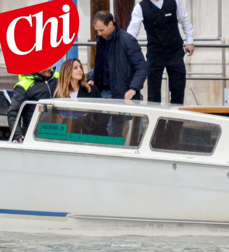Ambra Angiolini e Massimiliano Allegri, luna di miele a Venezia