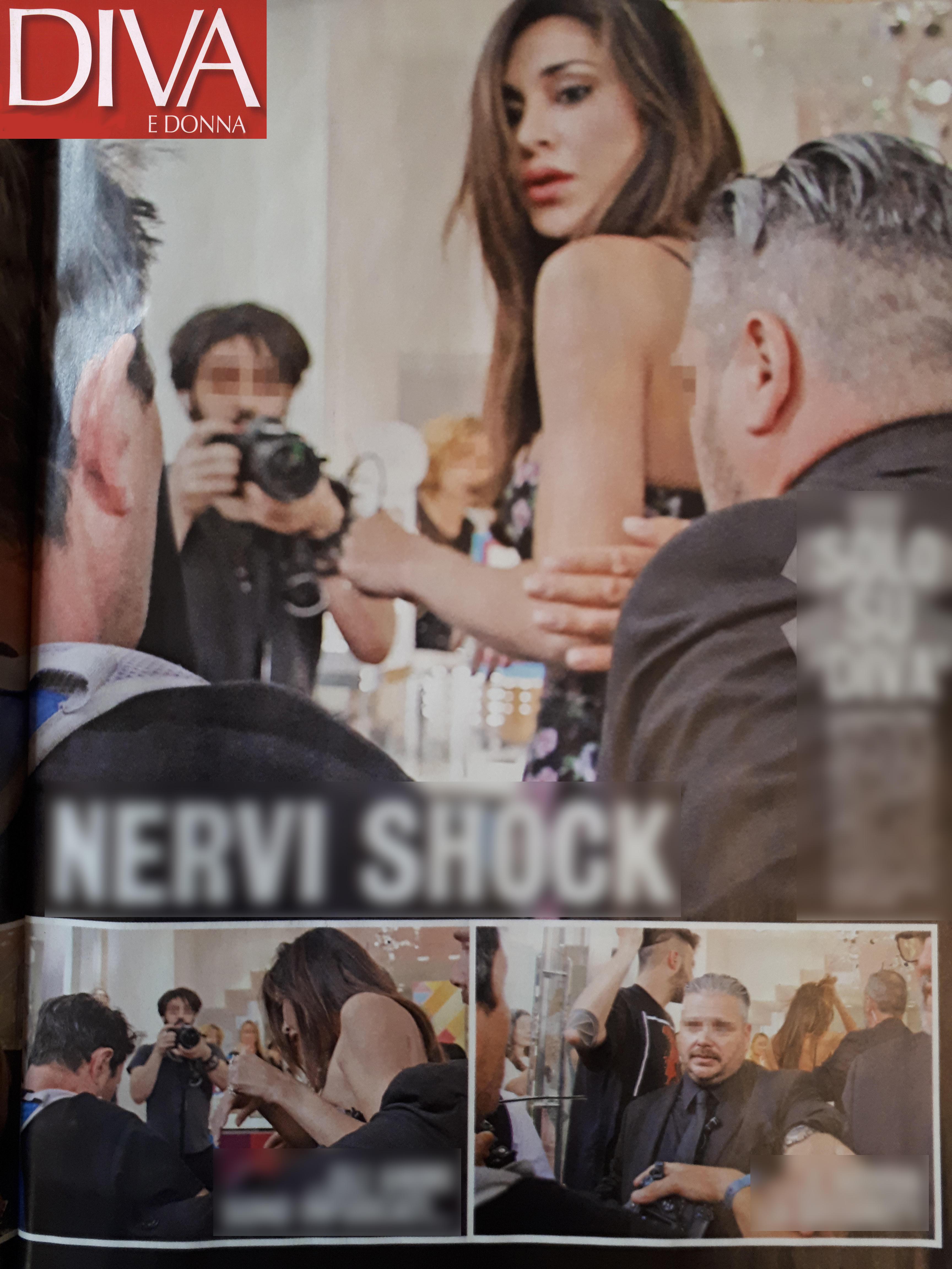 Belen s'arrabbia e strappa gli occhiali a un fotografo