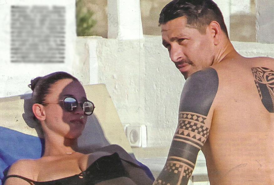 """Marco Borriello, fuga a Mykonos con la fidanzata Stefania Seimur: la Dea bendata del """"Grand Hotel Chiambretti�"""