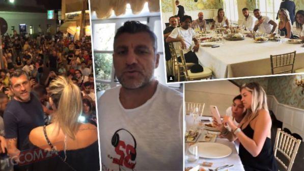 Costanza Caracciolo e Bobo Vieri in Sicilia: bagno di folla