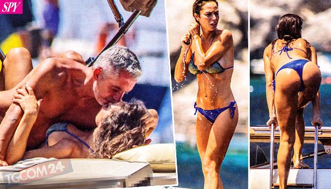 Raffaella Fico e Alessandro Moggi in love al largo di Capri