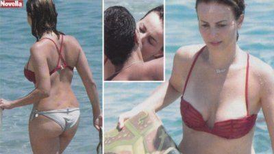 Violante Placido baci bollenti al mare con il compagno