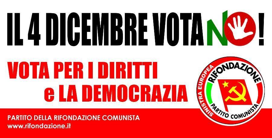 Per i diritti e la democrazia, il 4 dicembre vota NO!