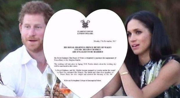 "Harry e Meghan, matrimonio a primavera. Regina Elisabetta ""lietissima"""