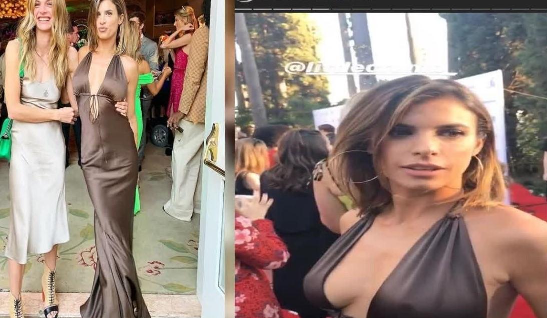Elisabetta Canalis, al party con un abito sexy e scollato: e si vede tutto