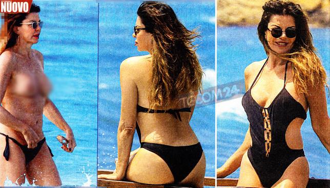 Alba Parietti a Ibiza, guarda che topless!