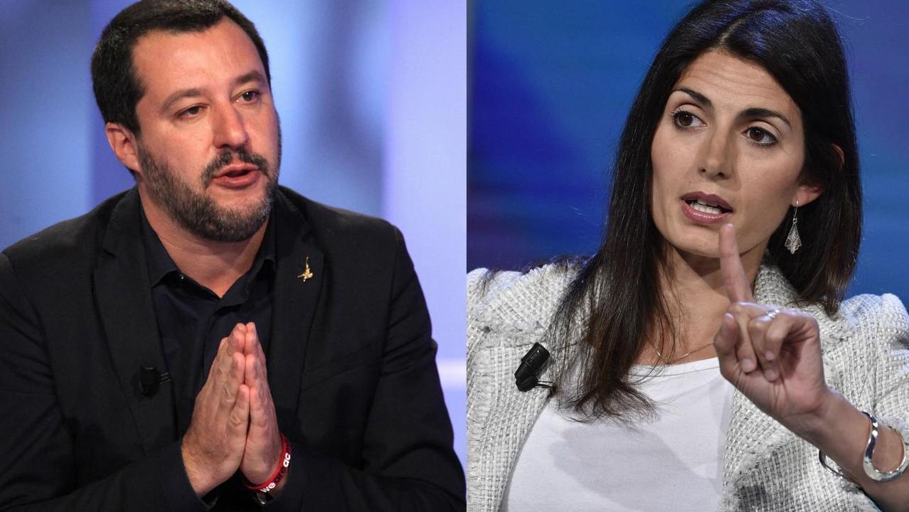 Salvini attacca la Raggi: «Bus a fuoco, auto ferme: salviamo i romani». E lei: «Vai a lavorare»