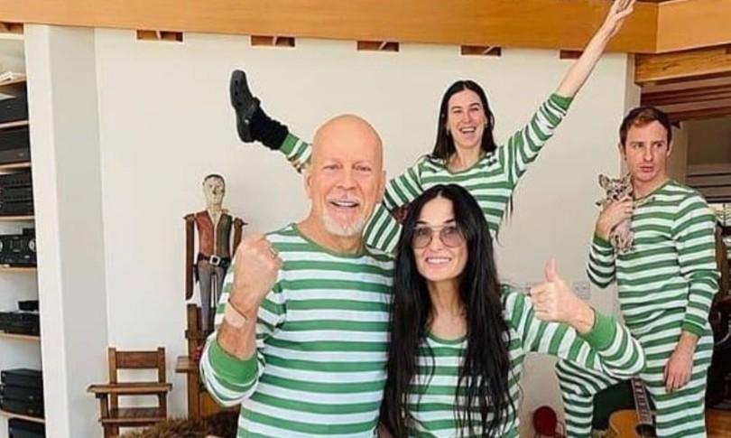 Bruce Willis e Demi Moore di nuovo insieme, riunione di famiglia per l'auto isolamento