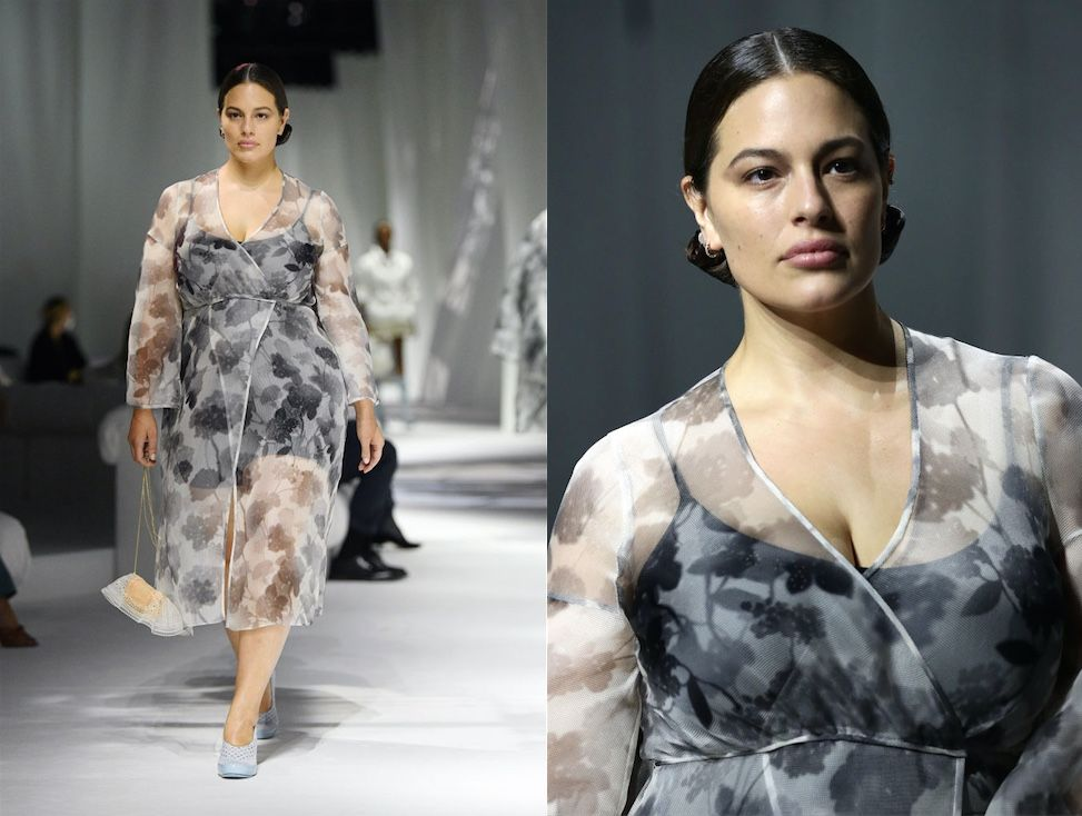 Ashley Graham torna in passerella… e in backstage da Fendi usa il tiralatte