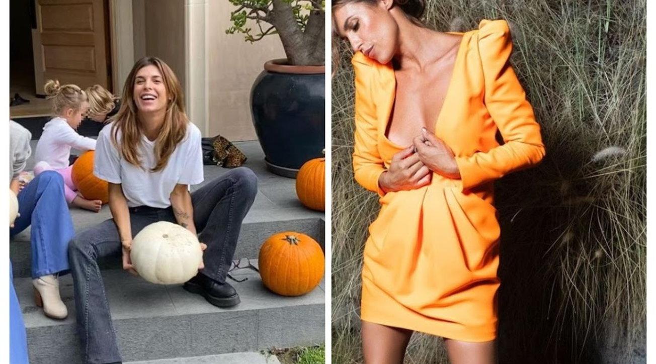 Elisabetta Canalis sexy tra le zucche di Halloween