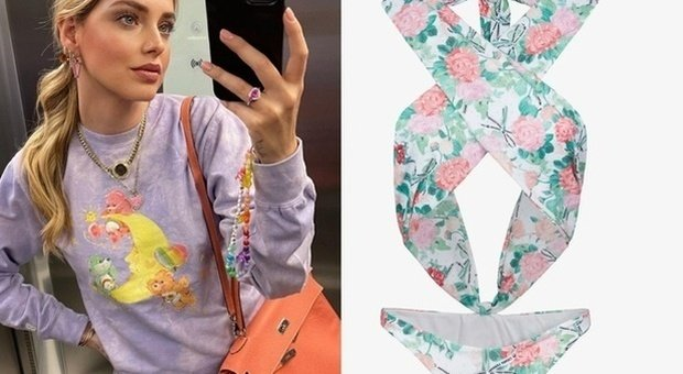 Chiara Ferragni lancia la linea di costumi di lusso, ecco il prezzo del bikini a fiori. Fan increduli: «Non ci credo...»