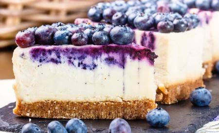 Cheesecake Mirtilli e Mascarpone deliziosa