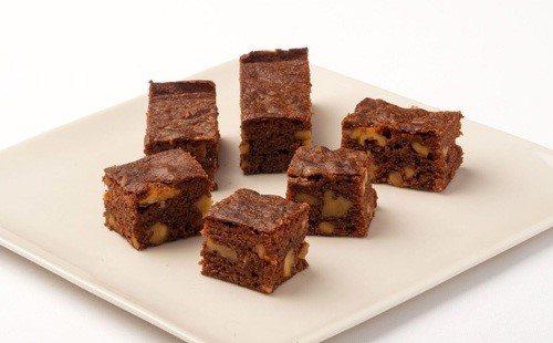 Brownies di frutta secca con glassa deliziosa