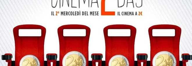 Tutti al cinema a 2€, da oggi parte il cinema2day.