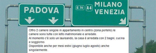 """Padova, ritornano annunci razzisti: """"Non si affitta ai meridionali!"""""""