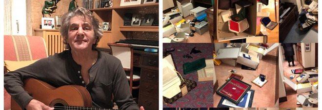 Fausto Leali, svaligiata la sua casa dai ladri, rubati tutti i dischi d'oro, posta le foto sui social