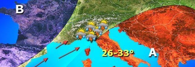 Pasqua estiva, in arrivo Hannibal dall'Africa con temperature estive al sud.