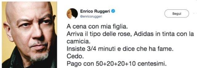 Enrico Ruggeri e il venditore di rose: