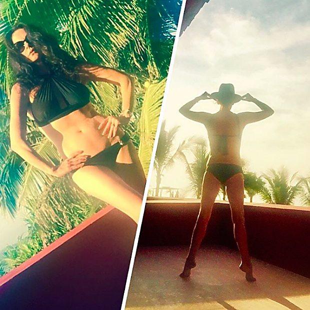 "Catherine Zeta-Jones stufa dei paparazzi posta foto sul social:""eccovi il mio lat0.b"""