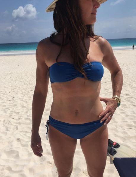 """Fisico al top per la 51enne Brooke Shields, attrice di """"Laguna blu"""""""