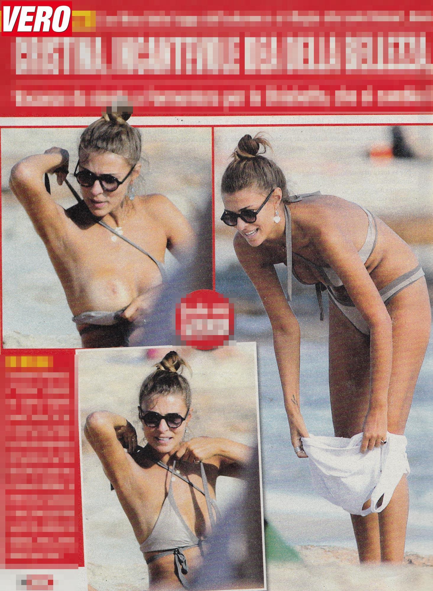 Cristina Chiabotto paparazzata in top less.