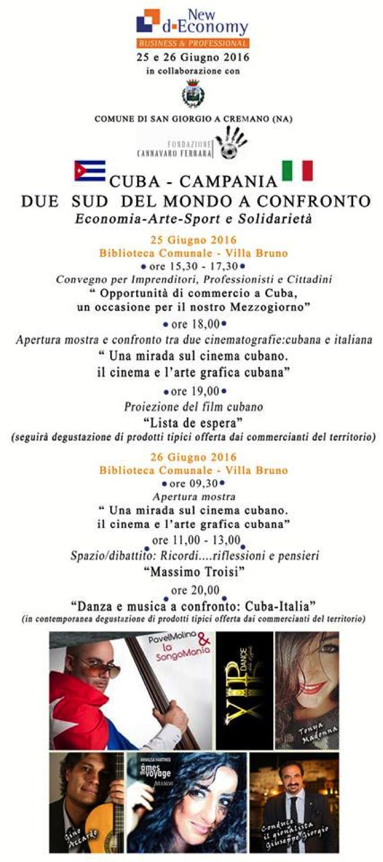 """San Giorgio a Cremano - New d-Economy """"Cuba - Campania Due Sud del Mondo a Confronto"""""""