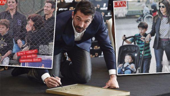 Gigi Buffon vince, figli in festa con Ilaria e Alena
