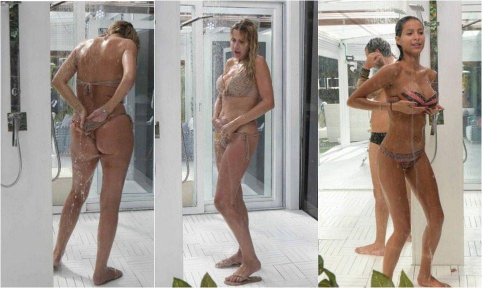 Gf Vip, Valeria Marini e Mariana Rodriguez: tanga ballerino e doccia hot